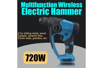 720W Electric Impact Wireless Drill Driver Demolition Jack Hammer Multifunction