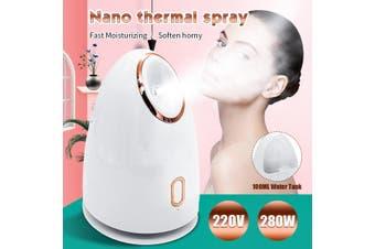 220V 280W Nano Ionic Facial Steamer Face Sprayer Humidifier Spa Steaming Tool Beauty Moisturizer Skin Care
