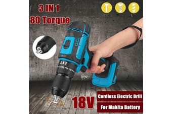 18V Electric Cordless Brushless Drill Driver Impact Torque For Makita Battery(blue,10 mm)