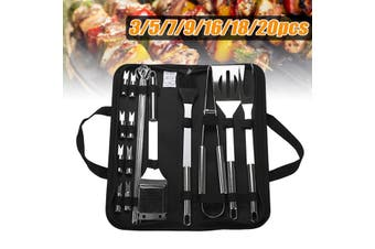 Stainless Steel BBQ Tools Set Barbecue Grilling Utensil Accessories Camping