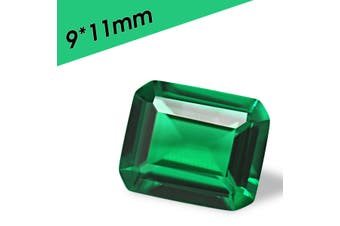 Natural Mined Colombia Green Emerald Shape Cut VVS Clarity AAA Loose Gemstone(9x11x6mm)