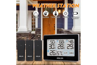 100 MetersWireless LCD Wireless Weather Station Indoor Outdoor Thermometer Alarm +3x Transmitters(without Sensor)