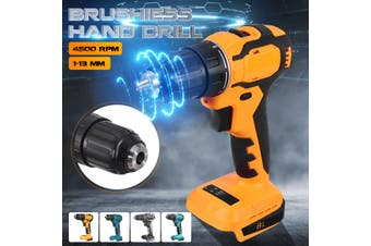 88V 13mm 100W LED Brushless Cordless Electric Power Drill Kit Household Driver(grey,bare machine)