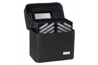 Women Makeup Case Cosmetic Storage Organizer Box Jewelry Display Holder 5 Types(black,Type 3)