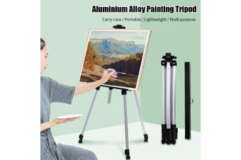 Aluminum alloy Artist Field Studio Painting Easel Tripod Display Stand Canvas (silver,Type 2)
