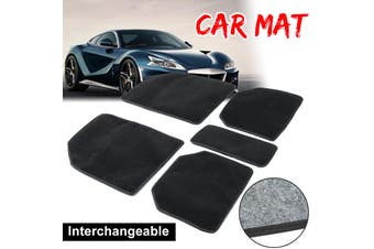 Car Floor Mats Velvet Universal 5pcs Rug Full Tailored Set For Truck SUV Black