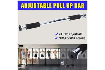 24-39in Pull up Bar Gym Exercise Training Chin up Fitness Door Wall Adjustable