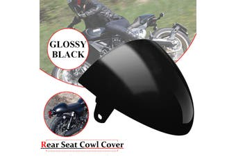Universal Passenger Rear Pillion Seat Cowl Fairing Cover for Motorcycle Retro Cafe Racer ABS(black)