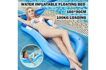 Inflatable Shed Sunshade Floating Bed PVC Collapsible Recliner Outdoor Water(red,160x90cm air mattress bed)