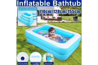 110/128/155cm Child&adult Inflatable Swimming Pool Bathing Tub Household Wear-Resistant Thick Pool for Families(128 cm)