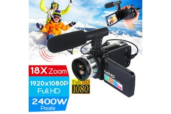 2400 Megapixels Vlog Camcorder Camera Full HD 1080p Video Camera 16X Digital Zoom Support External Microphone And Lens(only Camera)