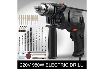 3 in 1 980W 220V Electric Impact Drill Screwdriver Angle Grinder Polisher Cutting Kit