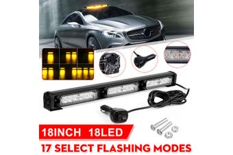18'' 18 LED Car Truck Strobe Light Bar Roof Emergency Hazard Warning Flash Lamp(18 inch-18 LED)