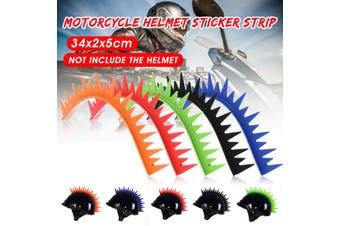 Motorcycle Helmet Decals Sticker On Saw Blade Spike Strip Racing Dirt Pit Bike (Orange)(orange,D)