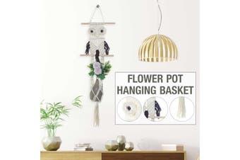 Handmade Hanging Baskets Flowerpot Plant Holder For Indoor Wall Hanging Planter(1Pcs)
