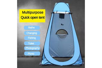 Camping 1-2 People Tent ?Automatic Outdoor Bath Tent Manual Construction Tent Waterproof Anti Ultraviolet Camping Tent(blue,120x120x190cm)