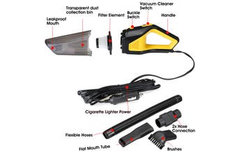 12V 120W 12000 r/min 6000mbar Portable Home Car Handheld Vacuum Cleaner Duster Dirt Suction (12V 60W)