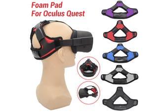 Non-slip VR Helmet Head Pressure-relieving Strap Foam Pad for Oculus Quest(black,Type B)