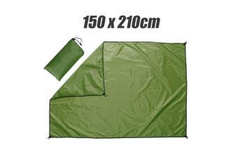 4 Colors Waterproof Outdoor Camping Picnic SunProof Pad Moisture-proof Mat (green,Rectangle 150x210cm)