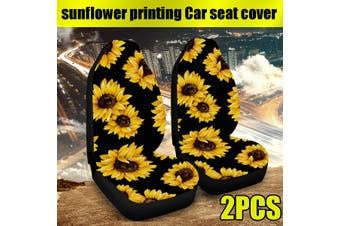 2 PCS Sunflower Front Car Seat Covers Fits Most Brand Vehicle Seat Cover Car Seat (Type F 2Pcs Front Seat Cover)