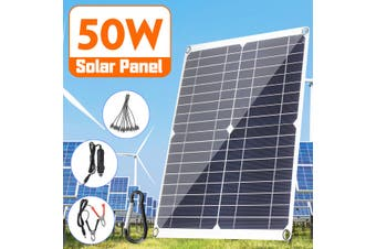 50W 20V/5V Flexible Mono Solar Panel Dual USB Battery Charger For Boat Car RV(100W Solar Panel Only)