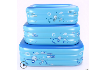 210/180/150/130/120CM Rectangle Quick Set Inflatable Above Ground Swimming Pool Kids Family Outdoor Garden Swimming(120x70x28cm(2-Tier))