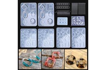 248Pcs Set Silicone Earring Pendant Mold Jewelry Making Resin Mould Kit Set Casting Craft DIY Hand Tool(13 245Pcs/Set)