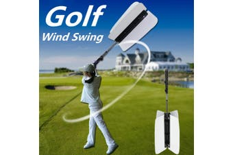 Golf Wind Swing Fan Resistance Practice Aid Trainer Training Guide Sports Equipment Outdoor Camping Accessories(white)
