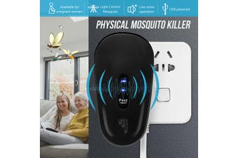 110V-240V 50KHz Electronic Ultrasonic Mouse Cockroach Pest Control Repellent Anti Mosquito Repeller Insect Killer Zapper Machine(white)