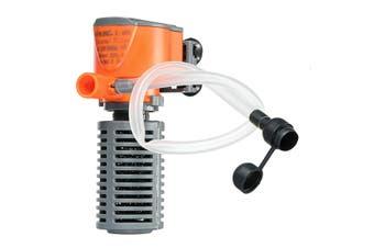 3-in-1 300L/H 3W 5W Fish Tank Aquarium Internal Submersible Water Power Filter Aquarium Internal Submersible Filter Water Pump Spray Bar(orange,5W With Sprays)