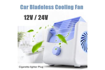 Portable Car Vehicle Cooling Air Fan 3-Speed Adjustable Silent Bladeless Air Cooler