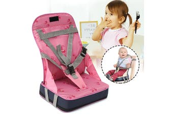 Kids Baby High Chair Dining Feeding Chair Booster Seat Foldable Travel Smart Mom Items(pink)