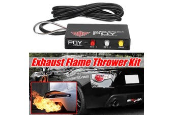 Engines Performance Rev Limiter Power Builder Exhaust Flame Thrower Kit Black(black)