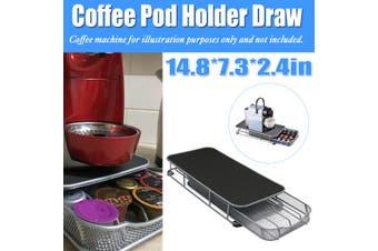 Coffee Iron Machine Stand & 40 Capsules Drawer Pods Tray Holder Kitchen Rack Storage Space Saver Desktop
