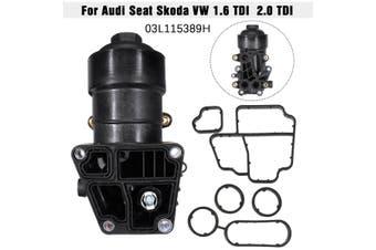 Oil Filter Housing w/Gaskets For Audi Seat Skoda VW 1.6 TDI 2.0 TDI 03l115389H