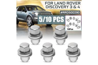 10/5Pcs Stainless Steel Wheel Nut Cap For Land Rover Discovery 3 & 4#RRD500290 (silver,5pcs)