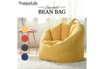 Big Joe Milano Bean Bag Chair Multiple Colors Available Comfort For Kids Adult YuppieLife Large Bean Bag Chairs Couch Sofa Cover Indoor Lazy Lounger For Adults(yellow,Only Cover)