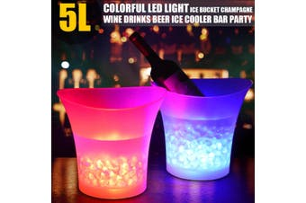 7 Colour LED Ice Bucket Cool Champagne Drink Cooler Chill Bar Party Xmas Glowing(multicolored,1x)