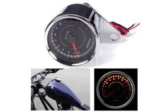Universal Motorcycle Speedometer Tachometer Gauge 0-13000RPM Stainless Steel