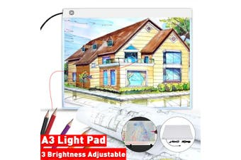 A3 LED Light Box 3-Level Dimming Tracing Board Art Design Drawing Copy Board Tablet Lightbox Diamond Painting With USB Cable(A3 LED Copy Board)