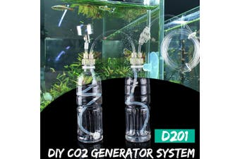 For DIY Aquarium Planted Tank CO2 System Pro Tube Valve Guage Bottle Cap Kit(Without Bottle)