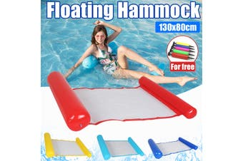 Inflatable Floating Water Hammock Float Pool Lounge Swimming Bed Chair with Pump+Free Air Pump