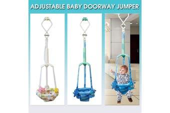 Baby Door Jumper Owl Bouncer Doorway Swing Jump Up Seat Exercise Toddler Infant (blue)