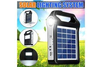 Upgraded Portable Solar Panel Lighting Kit, Solar Generator, Solar Home System Kit, USB Solar Charger With Lamp Lighting Emergency Light for Outdoor Camping Light