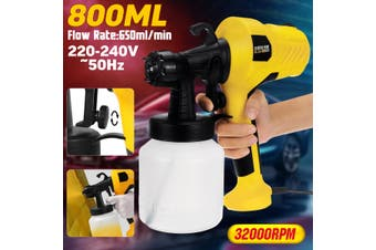 400W 800ML Electric Spray Home Painting Tool Latex Paint Sprayer Machine Kit(Yellow 400W)