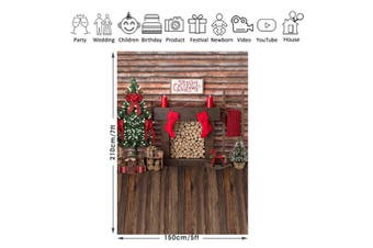 Christmas Tree Plank Board Photography Background Cloth Studio Backdrop Props