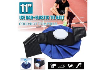 11'' Ice Bag Pack Wrap Belt Strap Hot Cold Therapy Knee Ankle Pain Injury Care(11 inch)