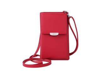 Preti Newly Fashion Phone Wallet Crossbody Bag(red,type3)