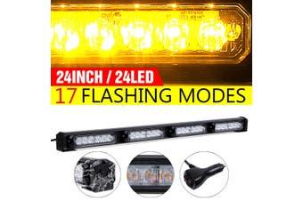 24'' 24 LED Strobe Light Bar Roof Emergency Hazard Warning Flash Truck Vehicle(24 inch-24 LED)