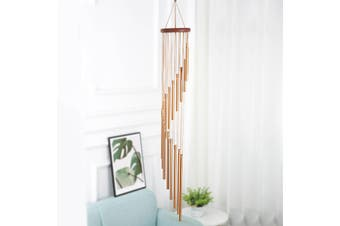 18 Tubes Large Gold Wind Chime Windchime Garden Outdoor Yard Windbells Home Decor -- Gold / Silver(gold)